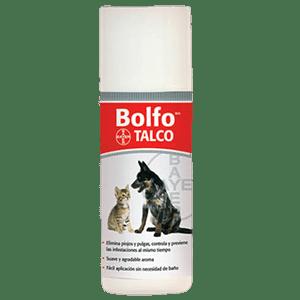 TALCO ANTIPULGAS DE LA MARCA BAYER BOLFO